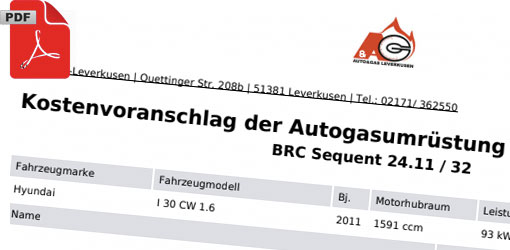 Angebot Autogas-Umrüstung
